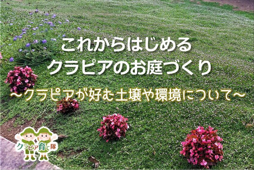 クラピアのお庭づくり